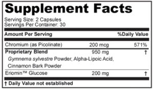 Blood Sugar Focus Ingredients